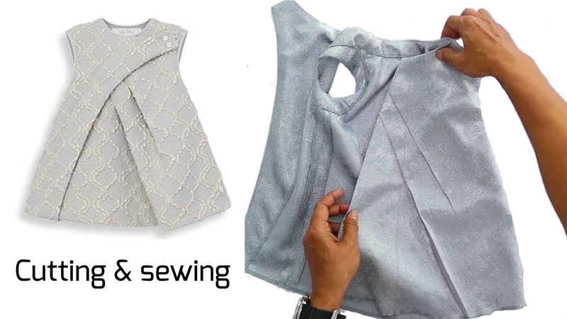 Pleated kid dresses How to sew