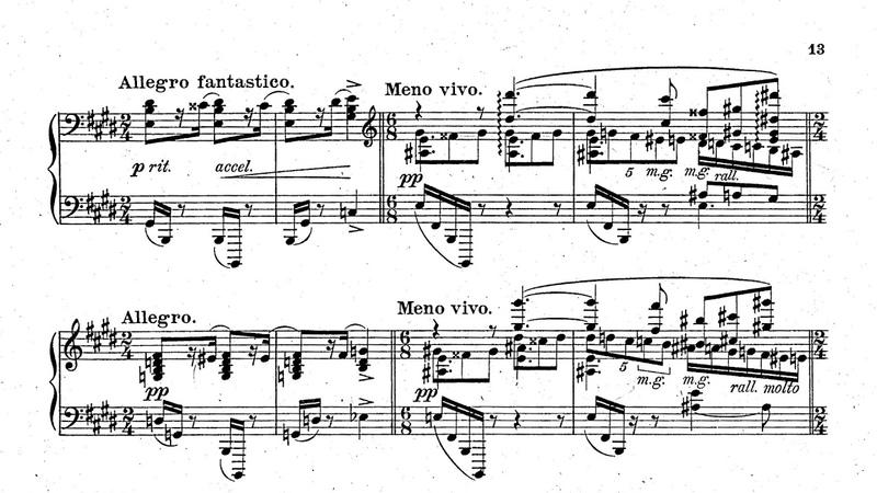 Alexander Scriabin Piano Sonata No 5 op 53 6 Pianists 1907 with full score
