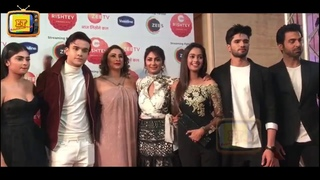 Sriti Jha With The Cast Of Kumkum Bhagya Graced The Red Carpet At Zee Rishtey Awards