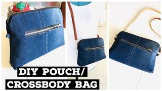DIY JEANS CROSSBODY/LONG STRIP BAG OUT OF OLD JEANS/WOMEN PURSE/BOLSA DIY/coubdre un sac