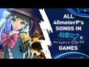 All 40meterP's songs in Project DIVA games