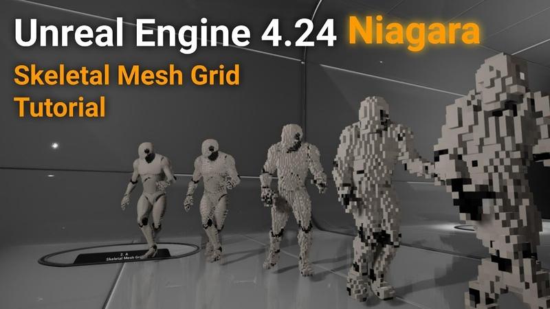Unreal Engine 4 24 Niagara Skeletal Mesh Grid Tutorial