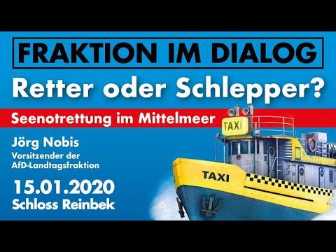 Jörg Nobis AfD Retter oder Schlepper Seenotrettung im Mittelmeer Vortrag im Schloss Reinbek