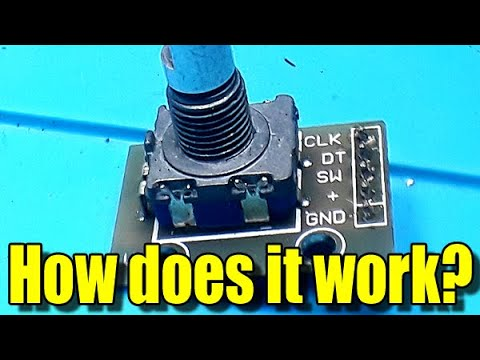 How does an incremental mechanical rotary encoder work