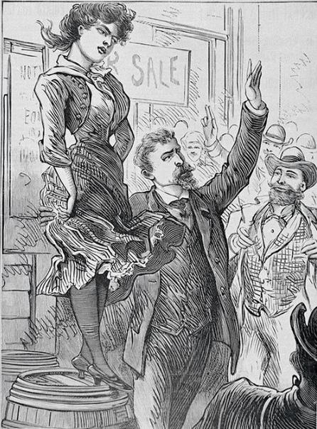 Как англичане продавали жен на рынке, сколько за них просили и зачем это делали Ярмарка, бойкие торговцы, перебивая друг друга предлагают свой товар, повсюду покупатели и просто зеваки. Тут же
