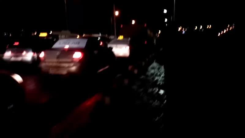 Чебоксары ДТП после Сугутского моста в сторону Гражданского кольца 18 02 20 19 40