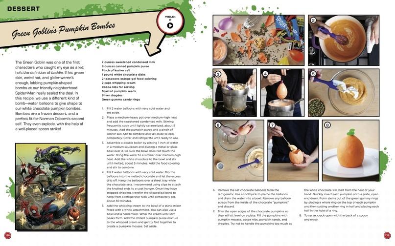 Паста с языком Венома и гоблинские бомбочки — кулинарная книга вселенной Marvel, изображение №2