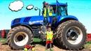 Трактор сломался Алекс приехал на помощь Машинки для мальчиков Видео про трактор для детей