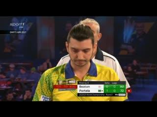 Steve Beaton vs Diogo Portela (PDC World Darts Championship 2021 / Round 1)