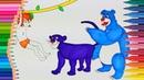 Книга джунглей Маугли раскраски Маленькие руки раскраски для детей