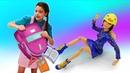 Видео про куклы. Салон красоты Браби. Кукла Барби не хочет собираться в школу Игры в куклы девочкам