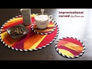 Improvisational curved How to sew original patchwork on your desk