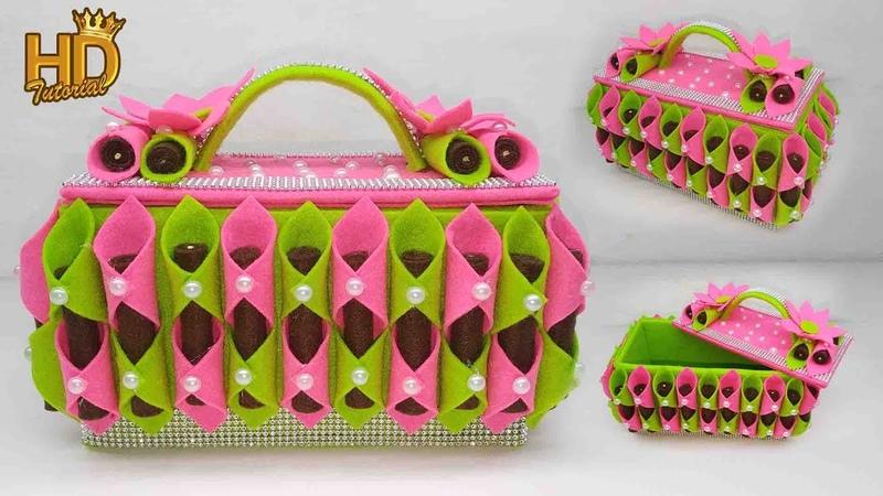 Kreasi Tempat Permen dari Kain Flanel || Beautiful basket || Home decorating Ideas handmade