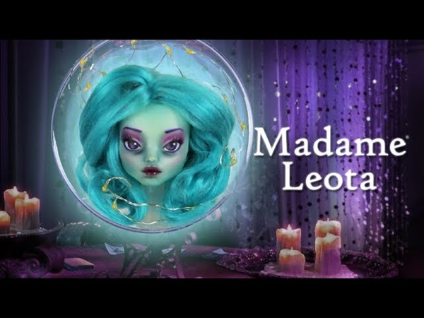 Halloween Collab Custom Doll Repaint Madame Leota Disney's Haunted Mansion