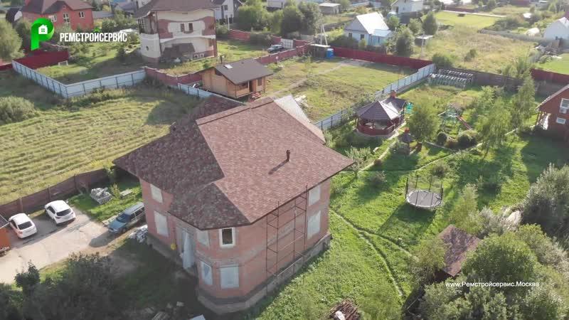 Строительство Двухэтажного кирпичного дома в Райтовском стиле,. строительство домов под ключ