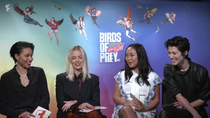 """Margot Robbie the Birds of Prey Cast on Action, Junk Food, and """"Fantabulous"""" Costumes ¦ Fandango"""