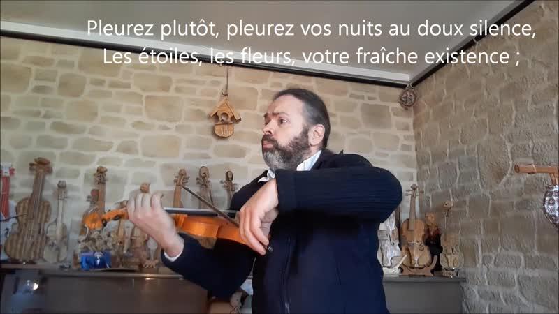 Poème mis en musique pour Jean Yves a son petit neveu Elisée