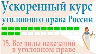15. Все виды наказаний в уголовном праве || Ускоренный курс уголовного права России