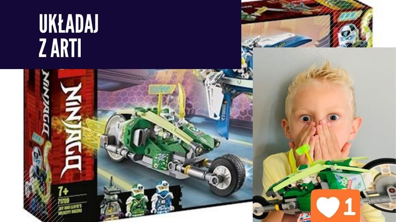 Jak zrobic motor z klockow LEGO LEGO NINJAGO Jay and Lloyd`s velocity racers