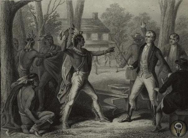 Легендарного вождя Текумсе уважали даже враги В Америке существует устное предание, что на их президентах лежит проклятие индейского вождя. Каждый избранный в год, который без остатка делится на