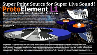 World`s First Unique Super Point Source Technology for Live Sound!