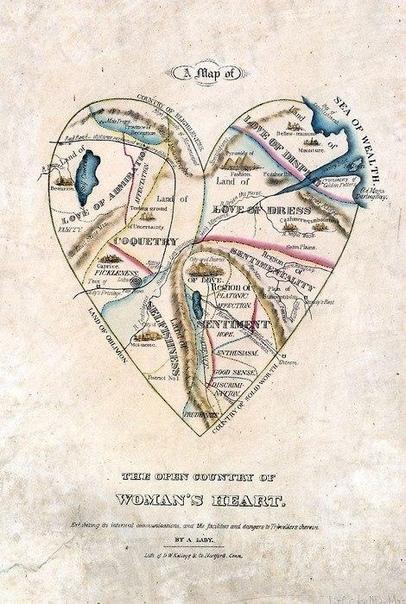 Карта женского сердца, XIX век.