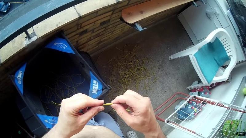 Wurfleine-Reparatur mittels Spleissen