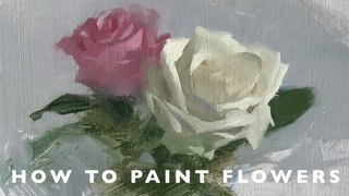 Oil Painting tutorial - How to Paint Flowers