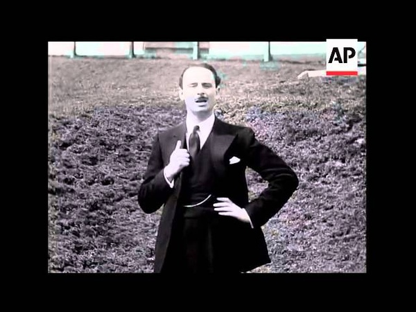 Sir Oswald Mosley Speaks on Unemployment The Cause of His Resignation