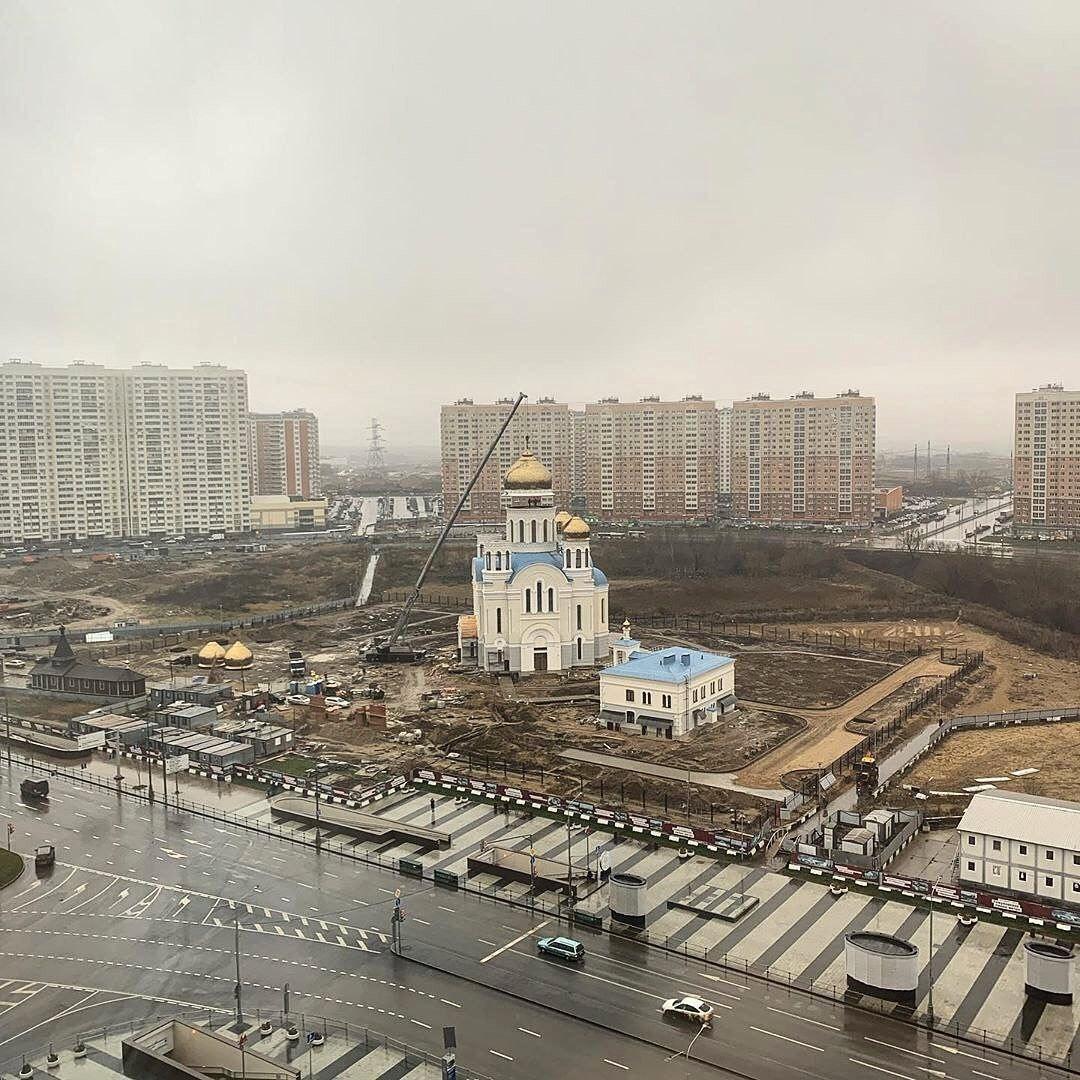 Строители готовят храм на Покровской ко вводу в эксплуатацию