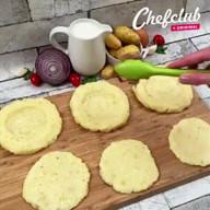 id_50154 Пирожки из картофельного пюре с мясной начинкой 😋  Автор: Chef Club  #gif@bon