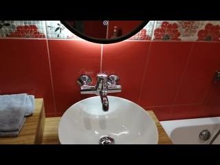 Очень интересный дизайн ванной комнаты