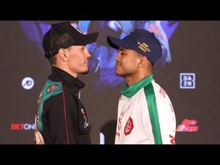 Juan Francisco Estrada vs Roman Gonzalez 2 - Weight In Хуан Франсиско Эстрада - Роман Гонсалес 2 - Взвешивание