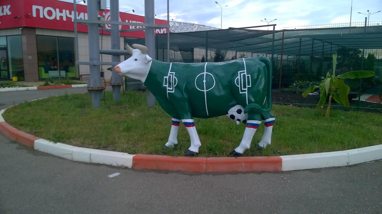 Футбольная корова