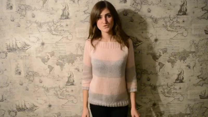 Как связать красивый свитер  спицами. Мастер класс.mp4