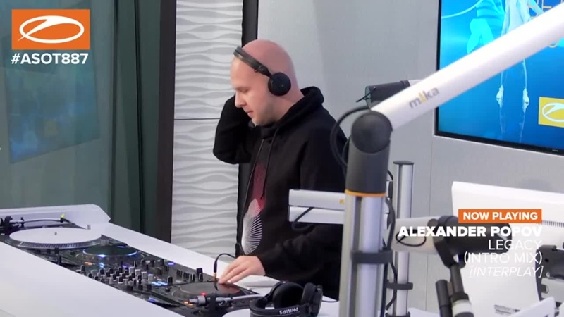 Alexander Popov In The Studio ASOT ASOT887