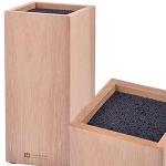 28121 Подставка для ножей каучуковое дерево МВ 10,5х10,5х23см (х6)