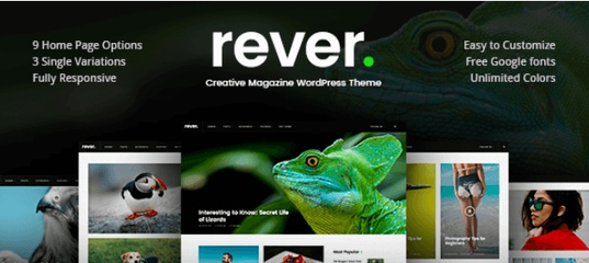 Rever v1.0.3 – A Responsive Clean Simple WordPress Theme
