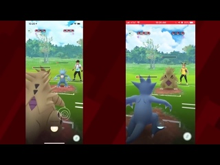 Геймплей PvP-сражения в Pokemon GO