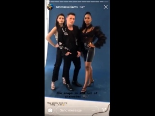 Nafessa Williams,Colton Haynes Nicole Maines shooting for Advocate Mag in Los Angeles,California today