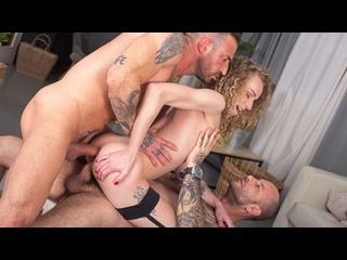 Angel Emily - Pounded In DP Threesome [PenthouseGold] Anal Sex DP Blowjob Doggystyle Reverse Cowgirl Facial Brazzers 1080p Порно