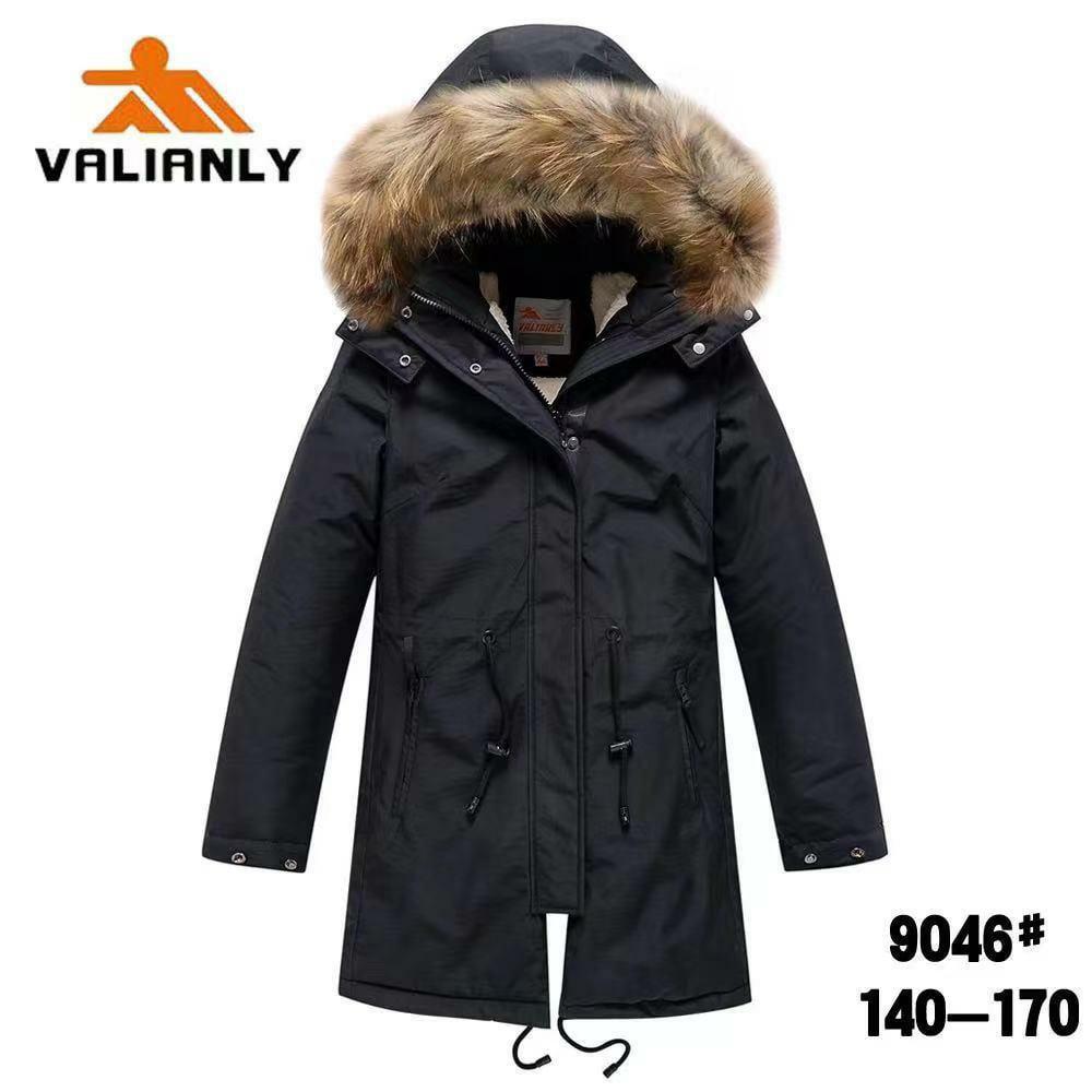 Зимняя парка Valianly 9046 черная