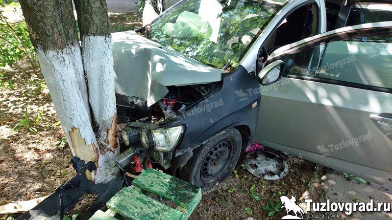 В Новочеркасске водитель не справился с управлением на повороте и врезался в дерево