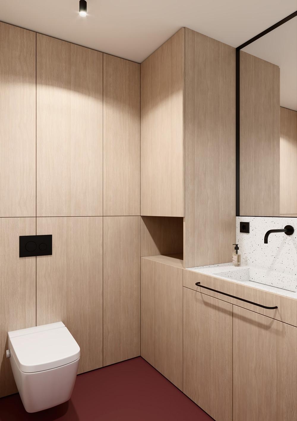 Проект квартиры открытой планировки 36 кв.