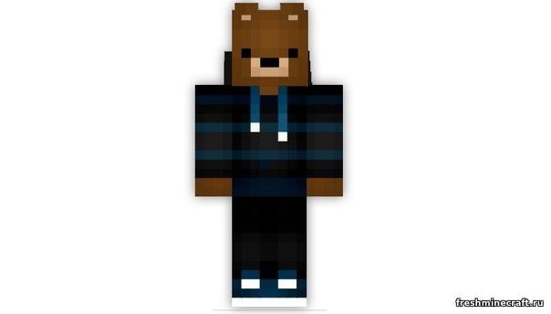 скины майнкрафт медвежонок