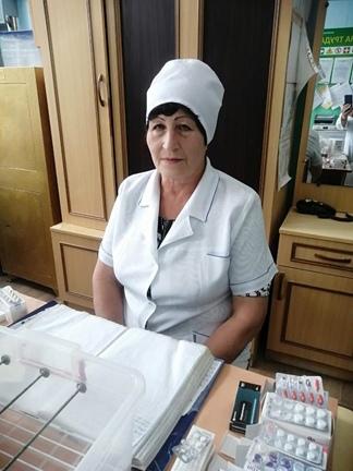 Бондаренко Татьяна Андреевна – медицинская сестра, стаж работы 38 лет.