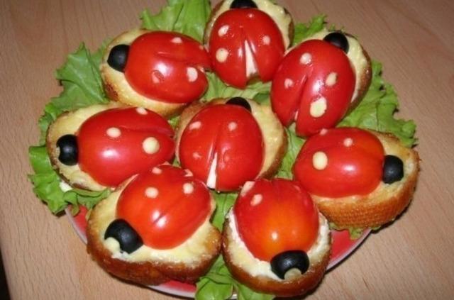 Божьи коровки из помидоров — варианты приготовления и использования в разных блюдах