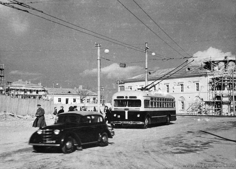 Площадь Коммуны (ныне площадь Ушакова),  1950-1951 гг. Севастополь