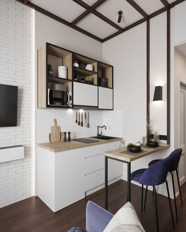 Проект маленькой гостевой студии 14 кв.