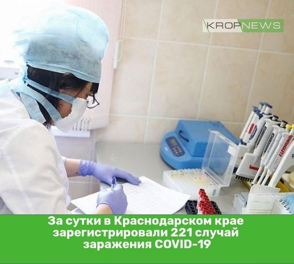 За сутки в Краснодарском крае зарегистрировали 221...